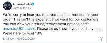 Amazon PS5 response