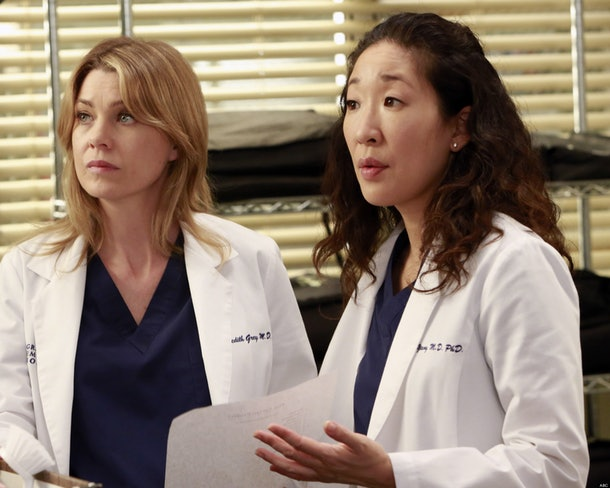 Meredith and Cristina on 'Grey's Anatomy'