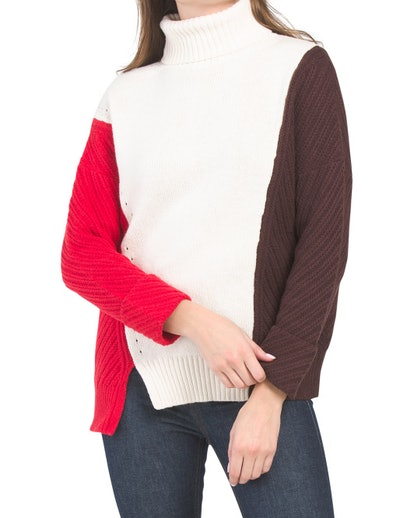 French Connection Color Block Sweater