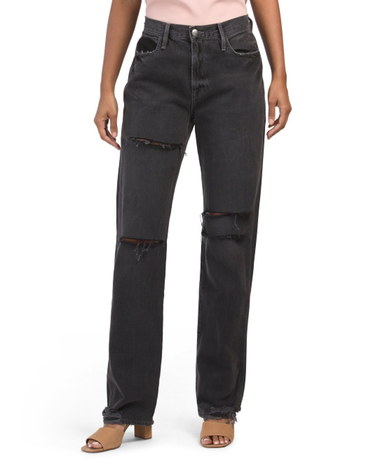 Frame Made In Usa Le Slash Straight Jeans