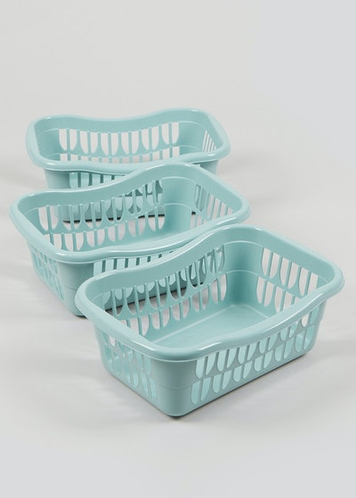 3 Pack Plastic Storage Baskets