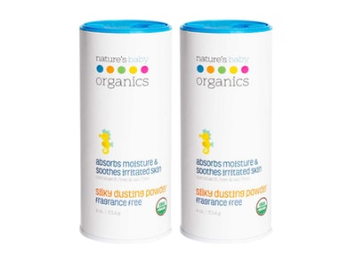 Nature's Baby Organics Baby Powder, 4 Oz. (2-Pack)