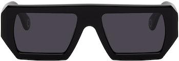 Études Black Rectangular Sunglasses