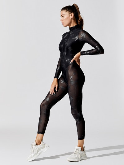 Sheer French Cut Full Catsuit