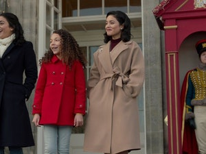 "Vanessa Hudgens and Mia Lloyd in ""The Princess Switch: Switched Again."""