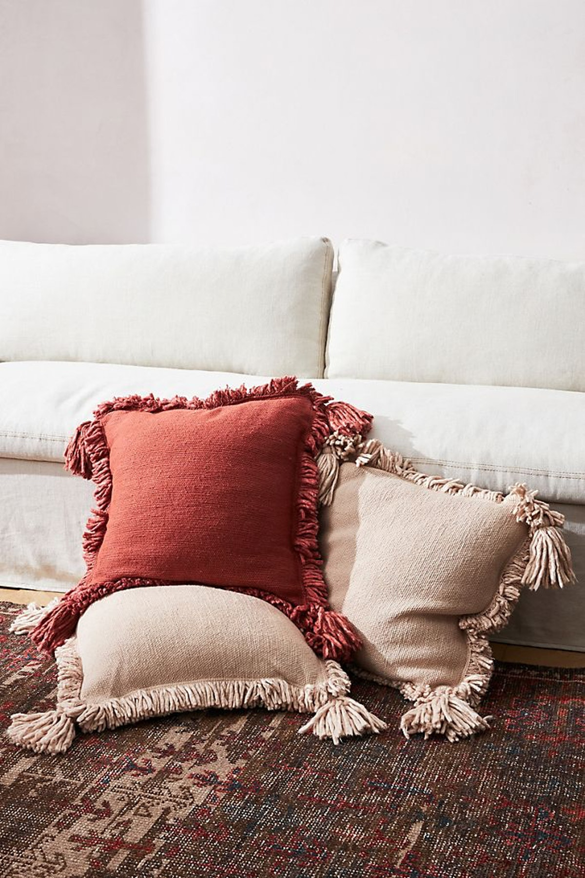 Amber Lewis for Anthropologie Fringed Joshua Pillow