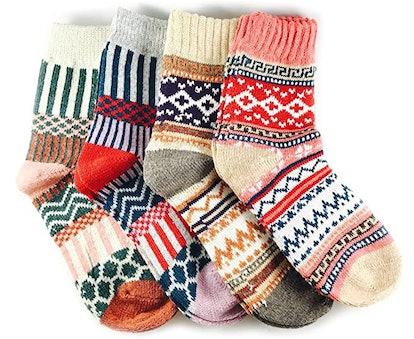 JOYCA Multicolor Socks (4-Pack)