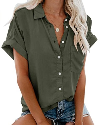 Beautife Button Down Shirt with Pockets