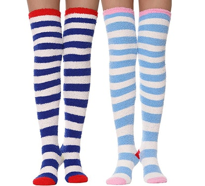 MOGGEI Over-Knee Fuzzy Socks (2-Pack)