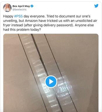 PS5 Amazon misdelivery tweet