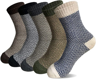 FYC Thick Soft Wool Socks (5-Pack)