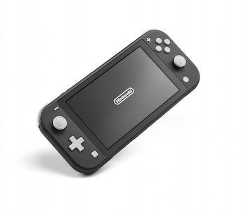 A black Nintendo Switch Lite console.