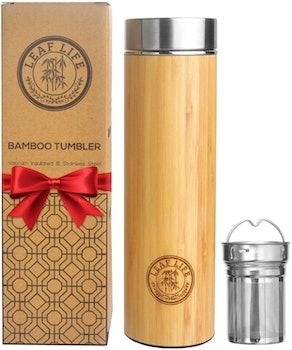 LeafLife Bamboo Tumbler and Tea Infuser