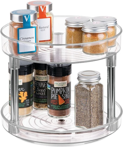 iDesign Rotatable Spice Rack with 2 Tiers