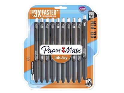 Paper Mate InkJoy Gel Pens, Fine Point, Black, 10 Count