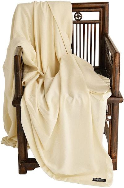 Cashmere Boutique 100% Pure Cashmere Queen Blanket