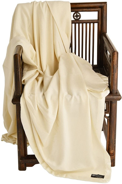 Cashmere Boutique 100% Pure Cashmere Queen Blanket