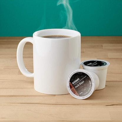 100 Ct. Solimo Dark Roast Coffee Pods
