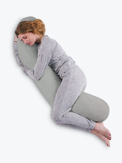 Kally Sleep Full Length Body Support Pillow, Grey