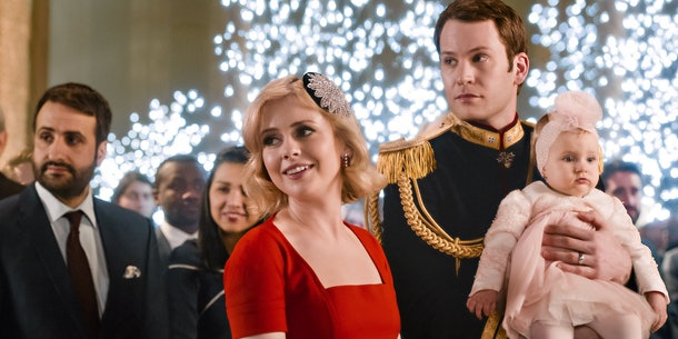 Richard and Amber from 'A Christmas Prince' showed up in a brief shot from 'The Princess Switch 2: Switched Again.'