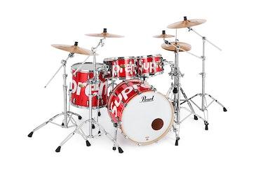Supreme x Pearl drum set.