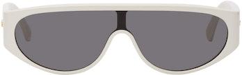 Bottega Veneta White Mask Sunglasses