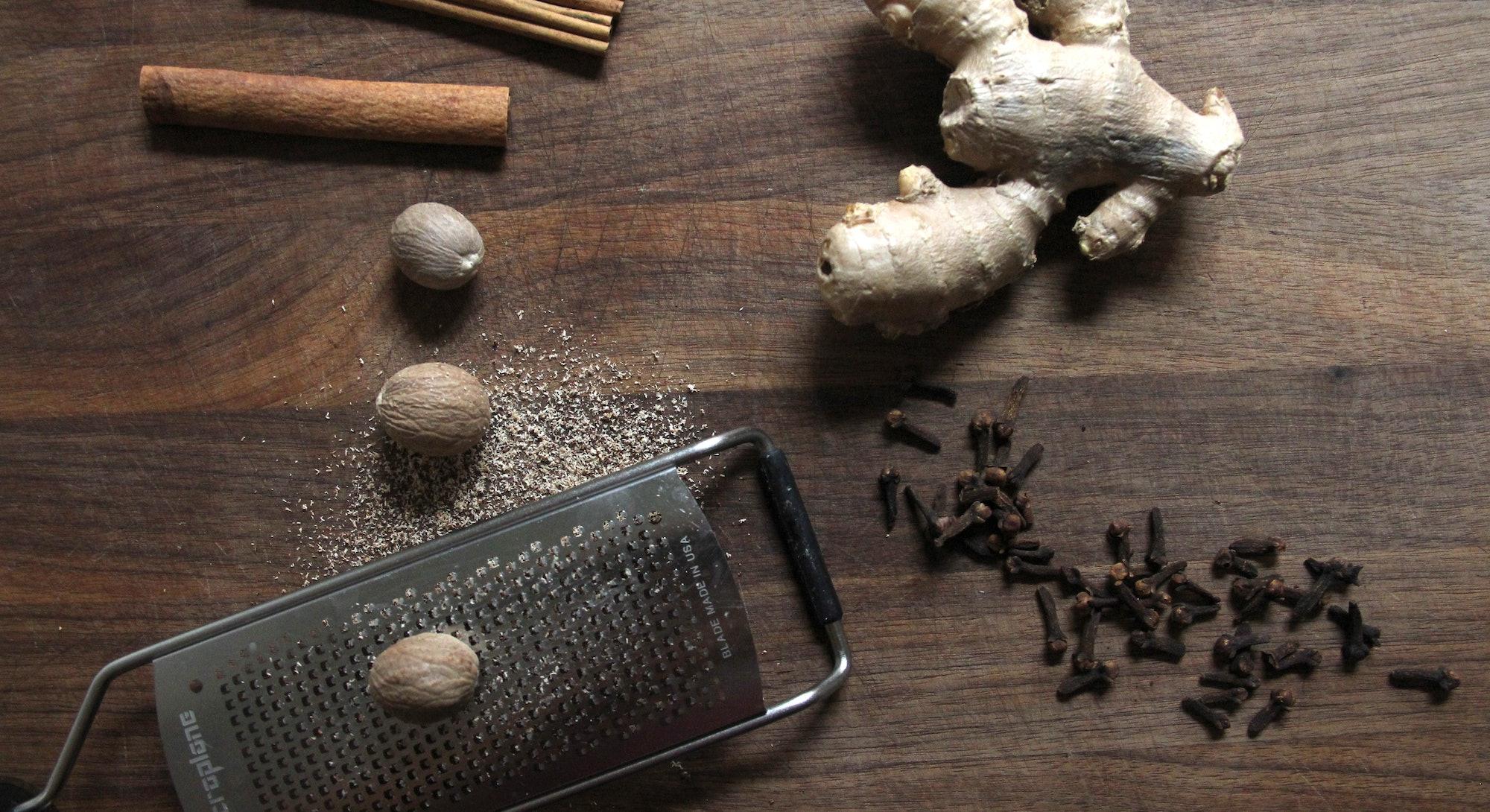 Cinnamon, clove, nutmeg, and ginger.