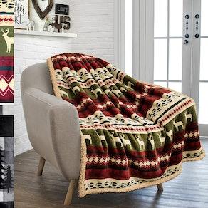 PAVILIA Fleece Throw Blanket