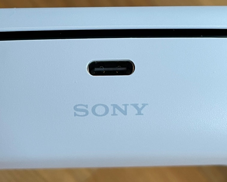 "The ""Sony"" logo some PlayStation 5's controllers is slightly misaligned."