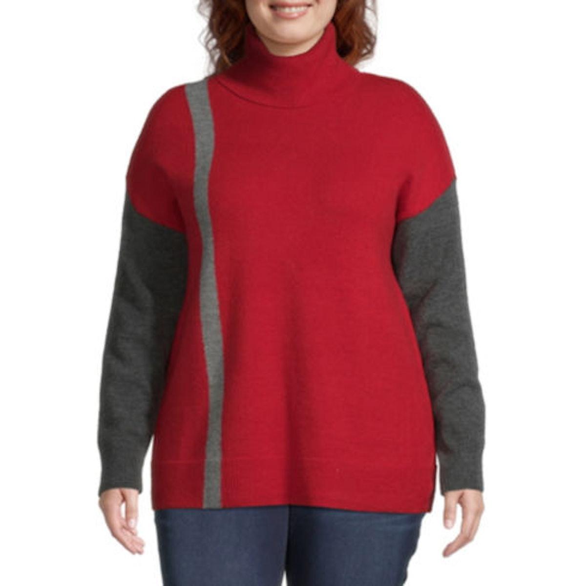 Liz Claiborne Colorbock Sweater