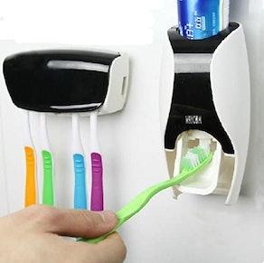 WAYCOM Toothbrush Holder & Toothpaste Dispenser Set