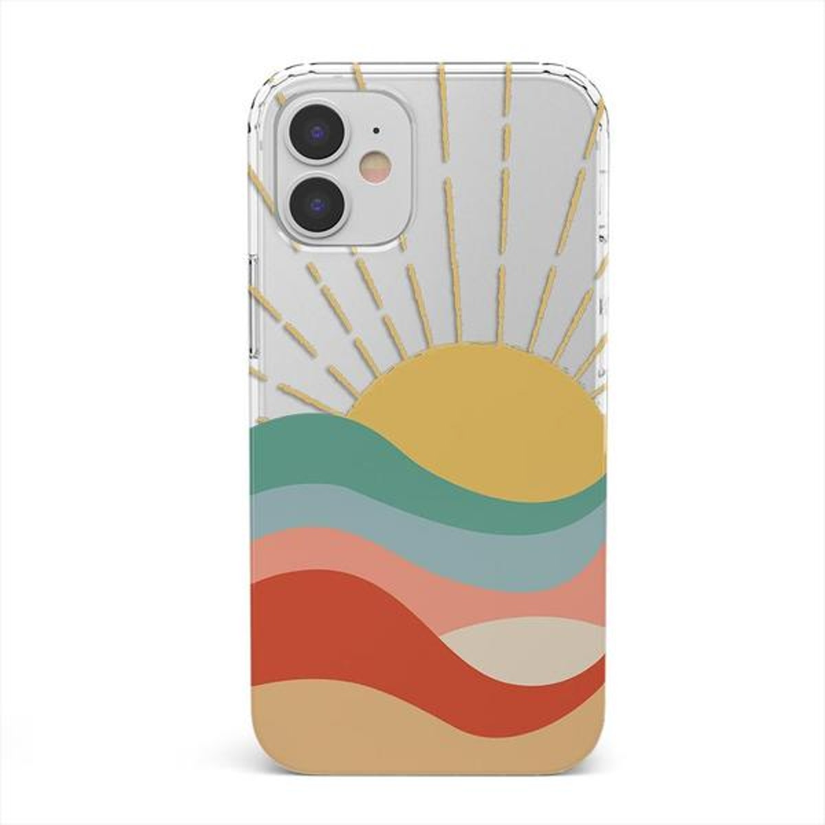 Here Comes the Sun   Colorblock Sunset Clear Case
