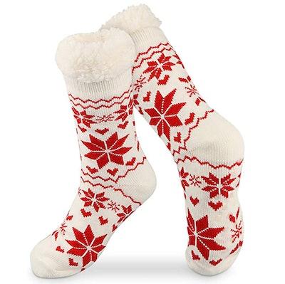 Tencoz Fuzzy Fleece Slipper Socks