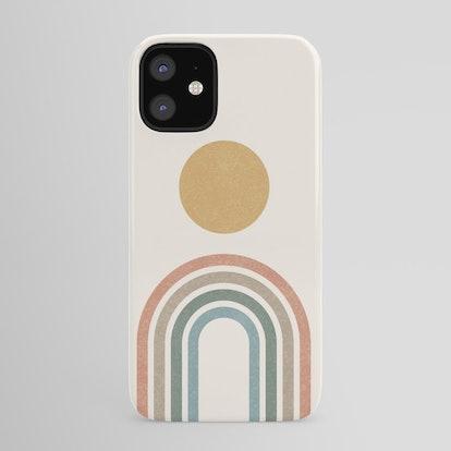 Mid-Century Modern Rainbow iPhone Case