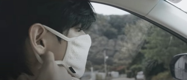 "A screenshot from BTS' ""Life Goes On"" music video."