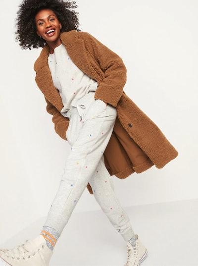 Oversized Cozy Sherpa Overcoat for Women