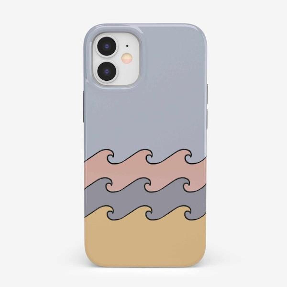 High Tide Layered Ocean Waves iPhone 12 Mini Case