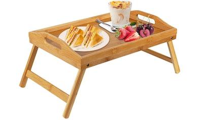 Pipishell Bamboo Bed Tray