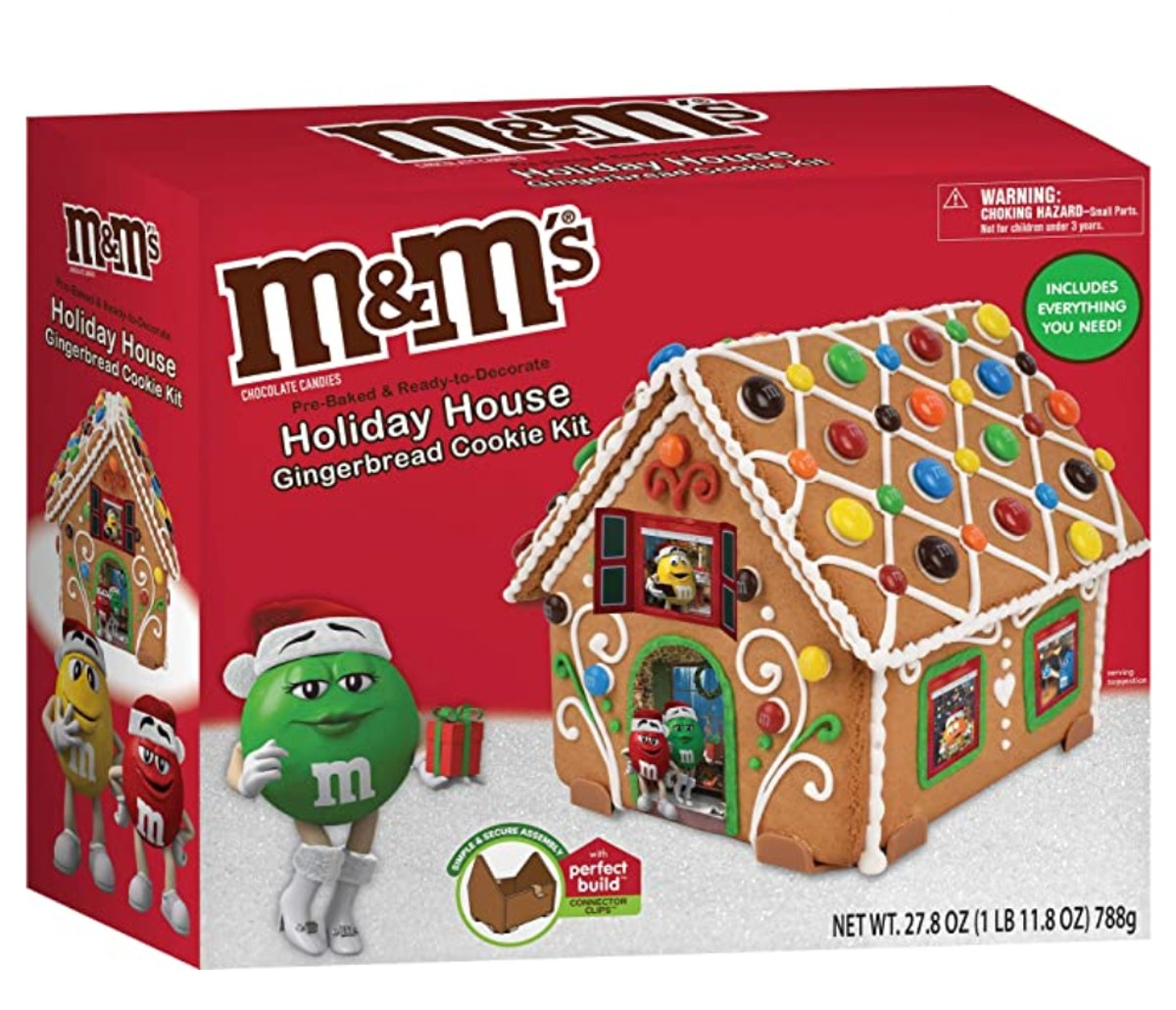 M&M's Holiday House Gingerbread Cookie Kit