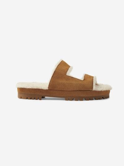 Roam Suede Shearling Sandals