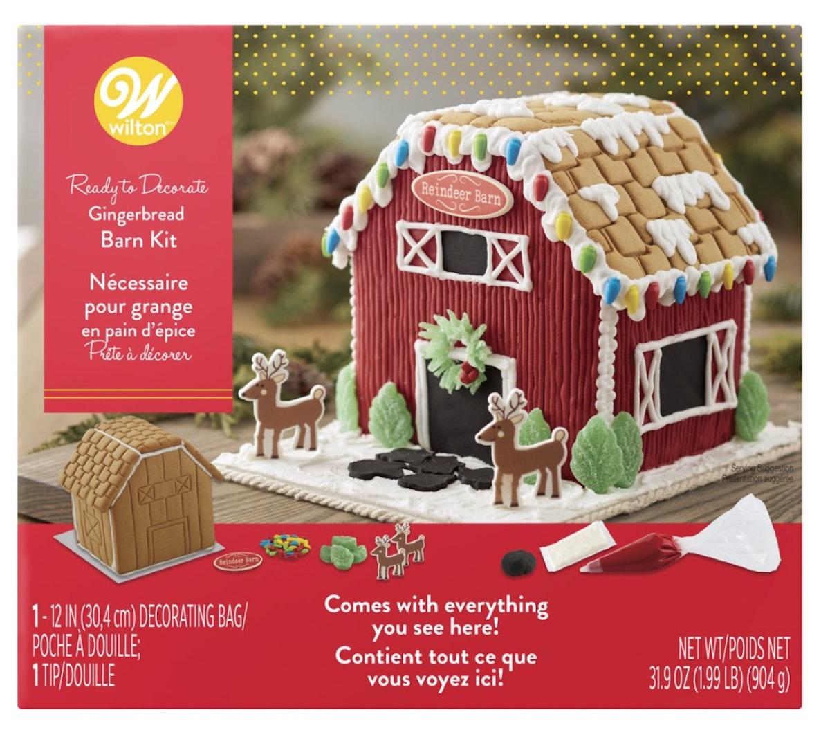 Wilton Ready to Decorate Santa's Farm Gingerbread Barn Decorating Kit