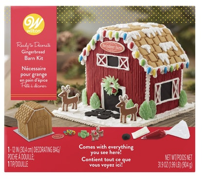 Wilton Ready to Decorate Santa's Farm Gingerbread Barn Decorating Kit