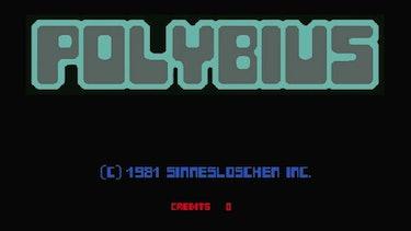 A mocked up screenshot of 'Polybius.'