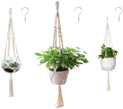 AOMGD Macrame Plant Hangers (3 Pack)