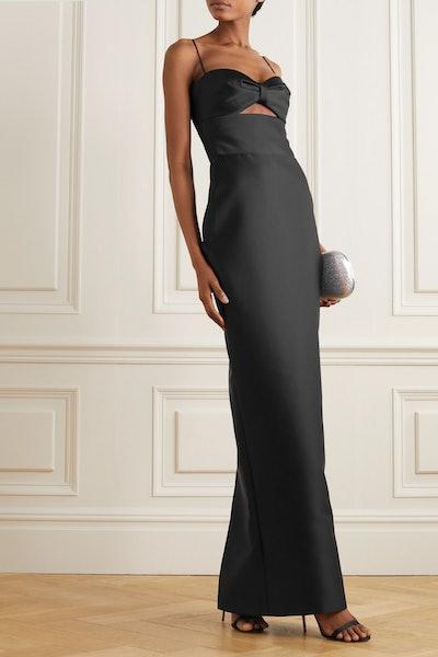 Cutout Duchesse-Satin Gown