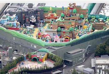 Super Nintendo Land aerial view 1