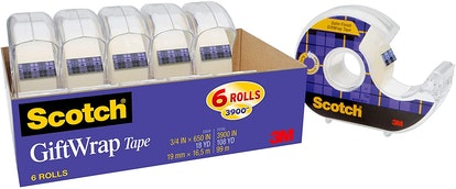 Scotch Gift Wrap Tape, 6 Rolls