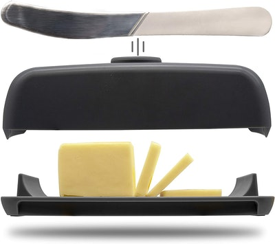 Butter Hub Magnetic Dish, Lid and Knife