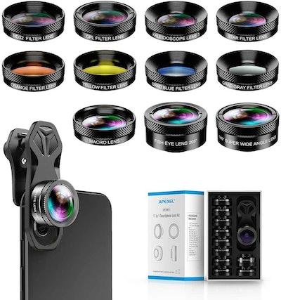 Apexel 11 in 1 Phone Camera Lens Kit