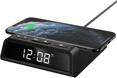 Seneo Alarm Clock With Wireless Charging Pad